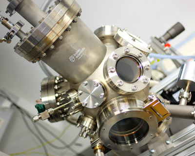 in situ sputter & impedance spectroscopy station
